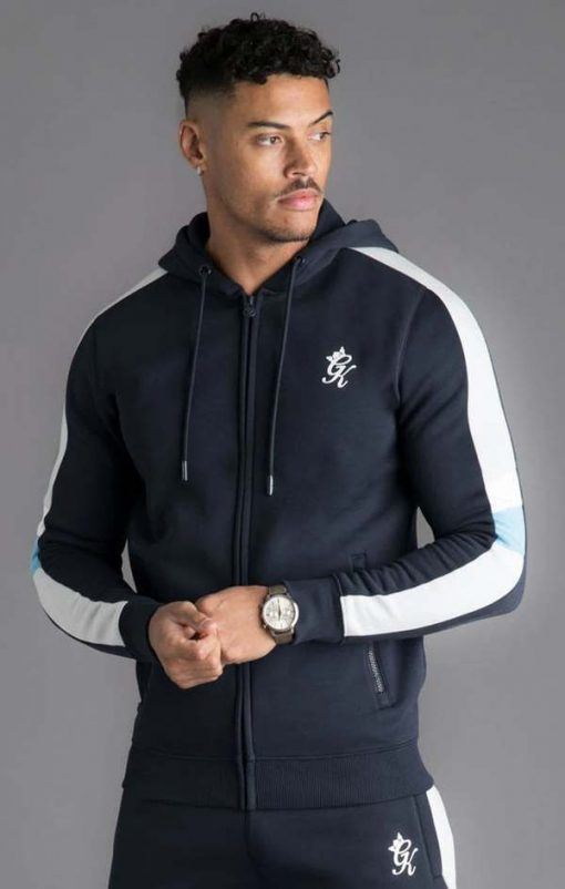 capone zip through tracksuit top navy nights p16586
