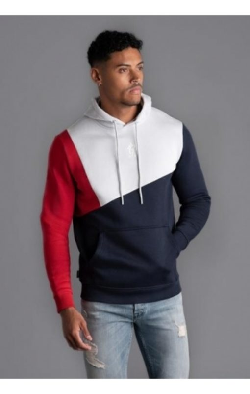 cotroni pullover hoodie microchip navy nights red p16200