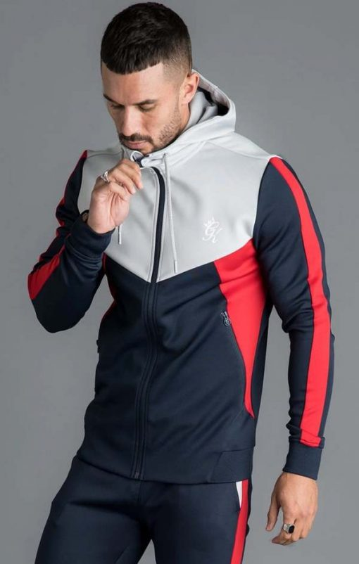 koen poly tracksuit top microchip navy nights red p16536
