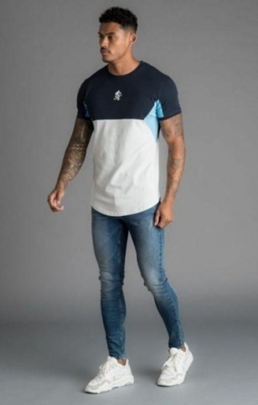sonny t shirt microchip navy nights light blue p16578