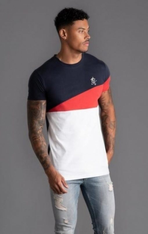 gym king nicolas t shirt navy nights white red p15991