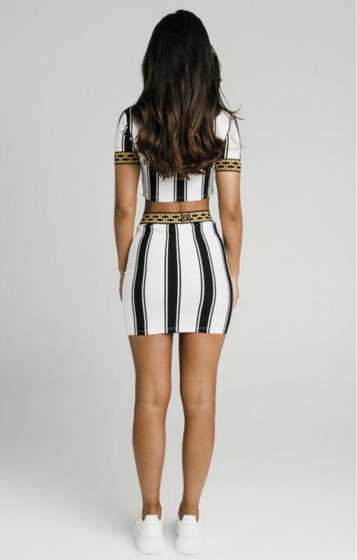 siksilk athena stripe box fit crop tee black white p4985 47411 medium
