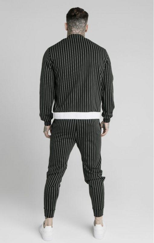 siksilk pinstripe bomber jacket black white p5219 50510 medium