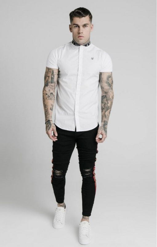 siksilk s s tape collar shirt white p5082 48621 medium