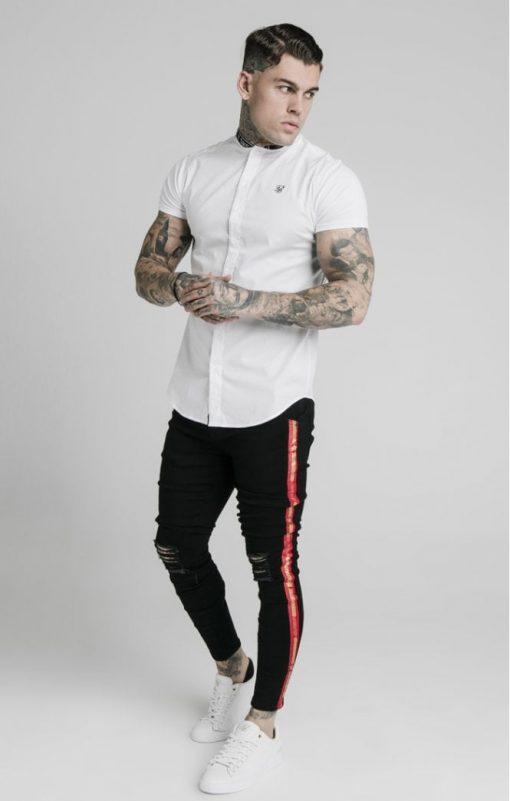 siksilk s s tape collar shirt white p5082 48623 medium