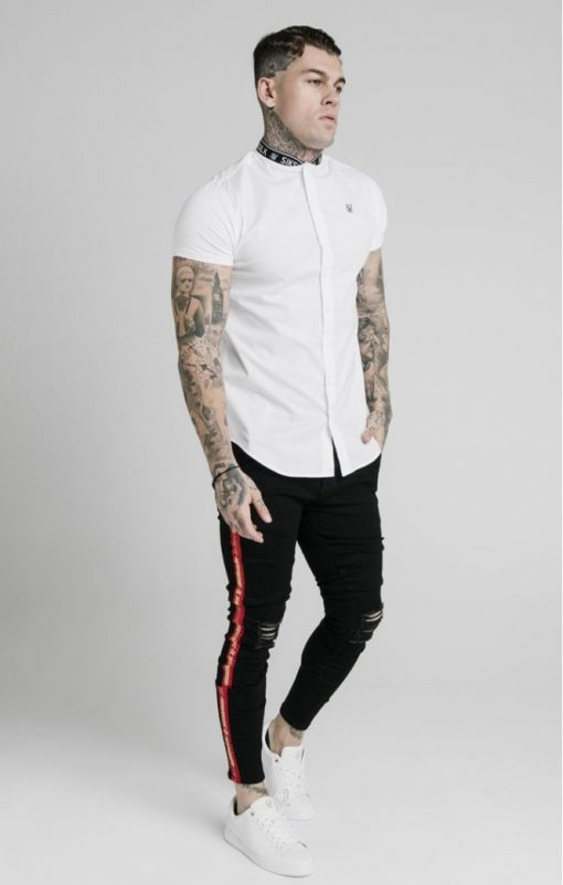 siksilk s s tape collar shirt white p5082 48624 medium