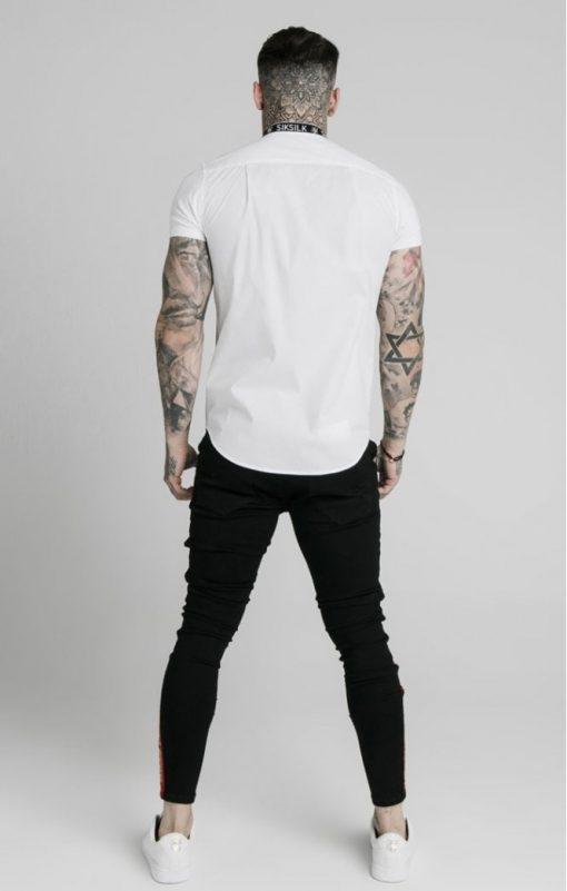 siksilk s s tape collar shirt white p5082 48625 medium