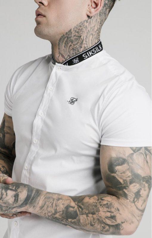 siksilk s s tape collar shirt white p5082 50345 medium
