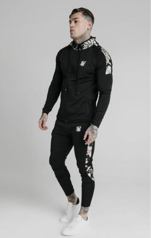 siksilk scope floral panel track pants black p5214 50453 medium