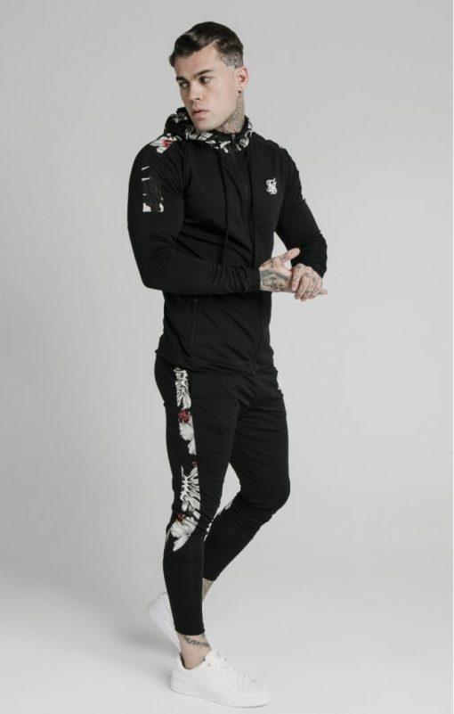 siksilk scope floral panel track pants black p5214 50454 medium