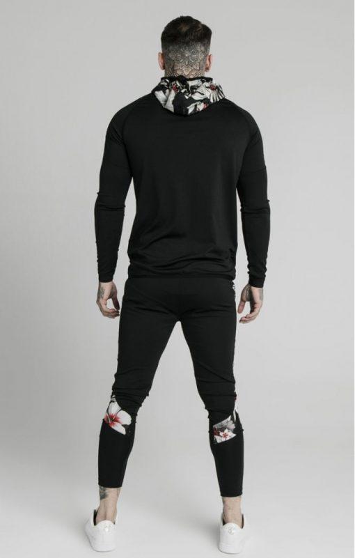 siksilk scope floral panel track pants black p5214 50455 medium
