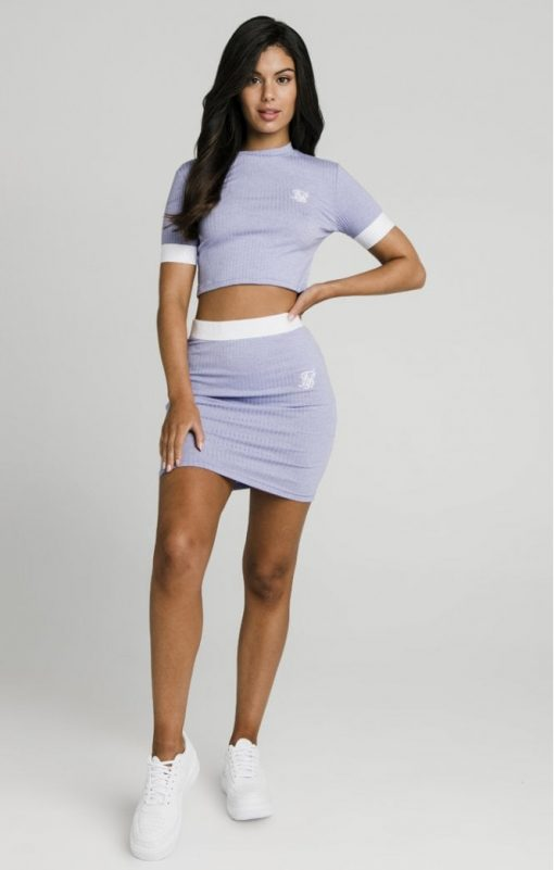 siksilk siksillk rib tube skirt violet p5024 47846 medium