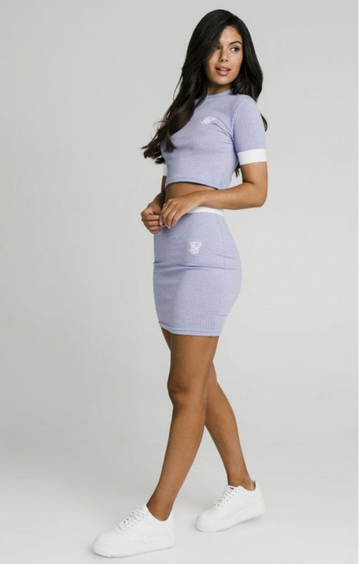 siksilk siksillk rib tube skirt violet p5024 47849 medium