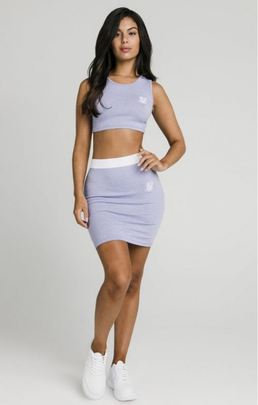 siksilk siksillk rib tube skirt violet p5024 47851 medium