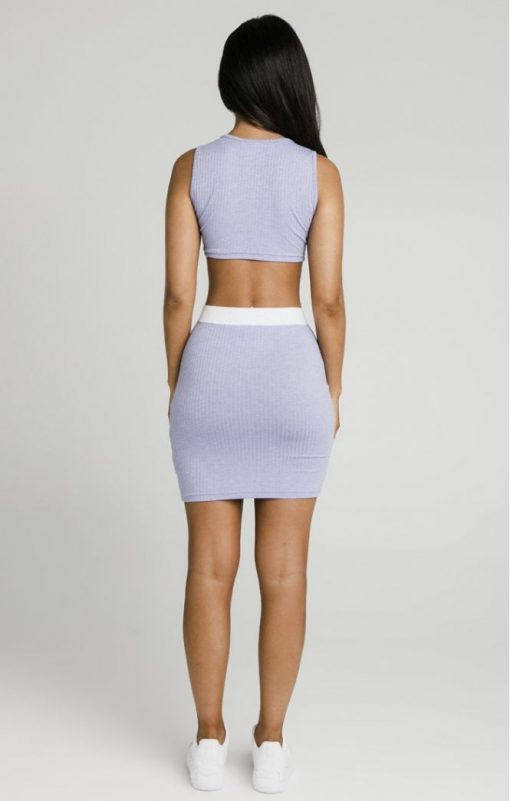 siksilk siksillk rib tube skirt violet p5024 47854 medium