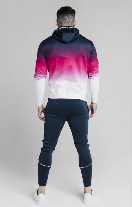 siksilk tri fade agility zip through hoodie navy pink white p5038 55394 medium