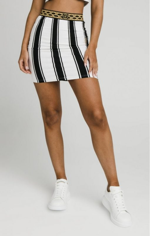 siksillk athena stripe skirt black white p4987 49720 medium