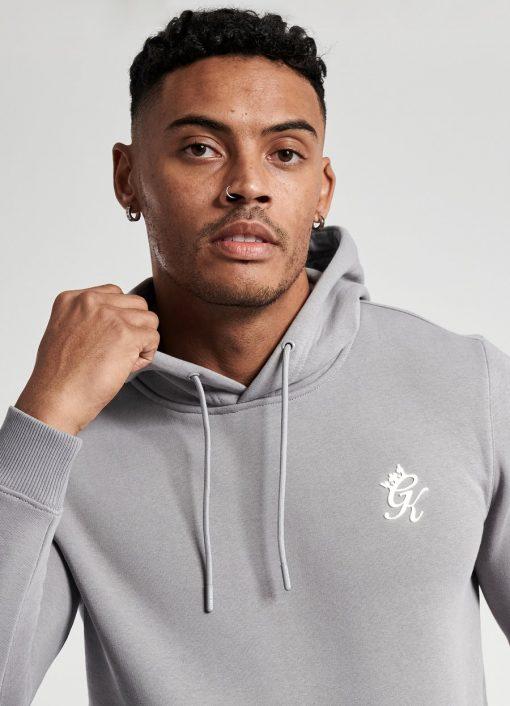 gym king basis overhead hoodie jogger silver