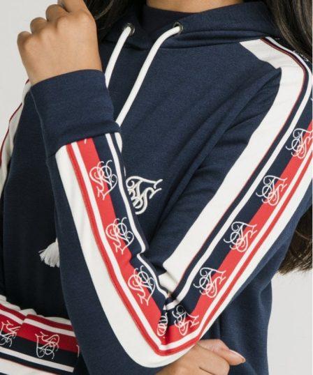 siksilk classic tape longline hoodie navy p5323 51907 medium