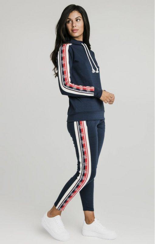 siksilk classic tape longline hoodie navy p5323 51908 medium
