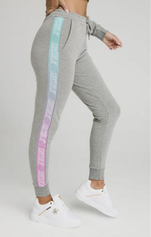 siksilk fade runner track pants grey marl p5251 50931 medium
