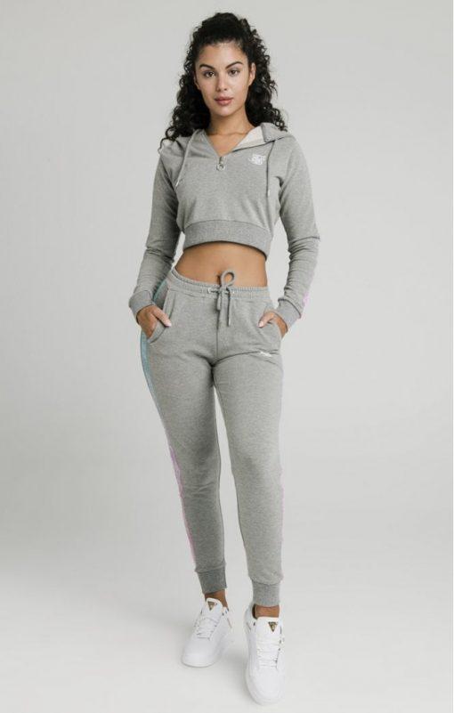siksilk fade runner track pants grey marl p5251 50932 medium