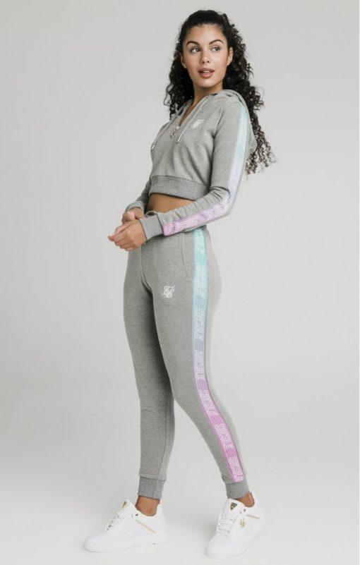 siksilk fade runner track pants grey marl p5251 50935 medium