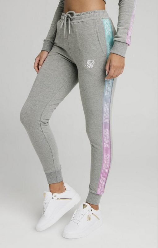 siksilk fade runner track pants grey marl p5251 50936 medium