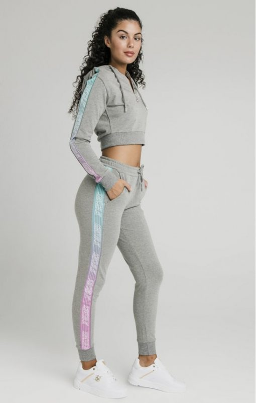 siksilk fade runner track pants grey marl p5251 50938 medium