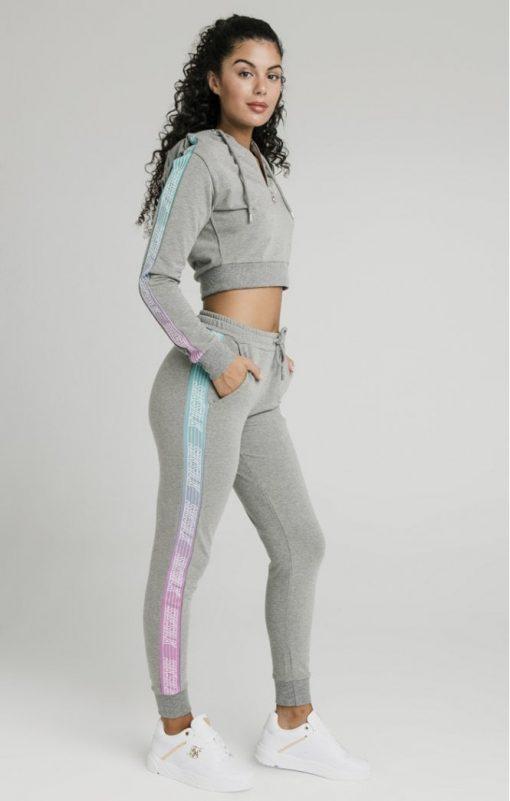 siksilk fade runner track top grey marl p5250 50923 medium