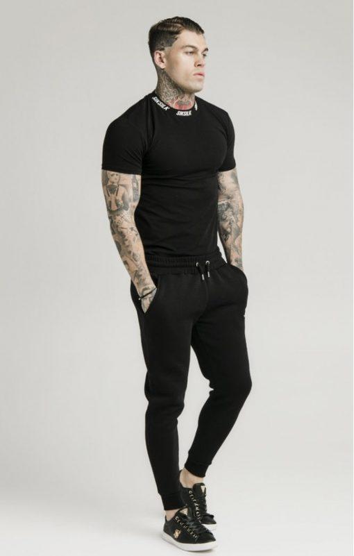 siksilk muscle fit jogger black p5428 53340 medium