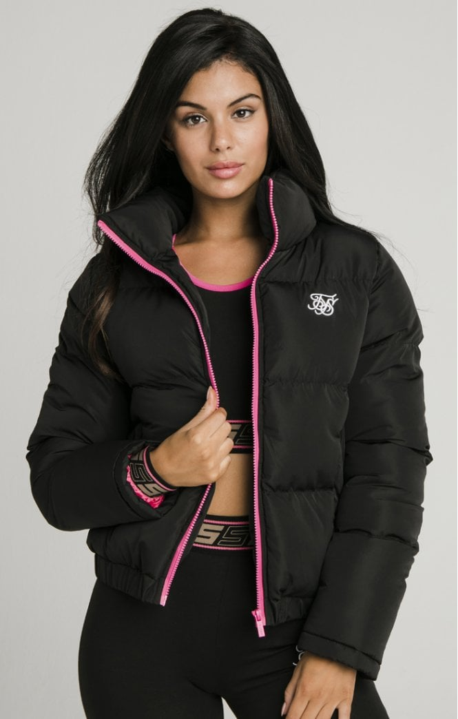 siksilk roma crop jacket black p5627 56065 medium