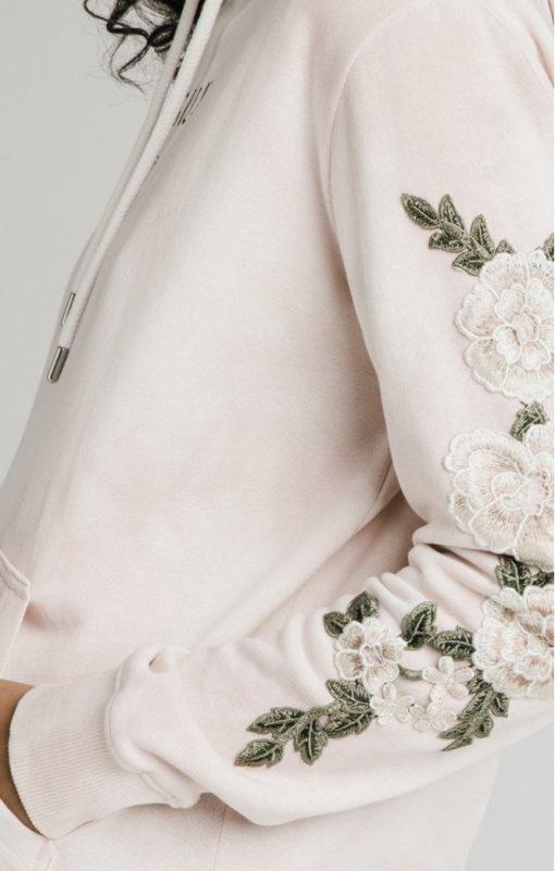 siksilk tye dye floral overhead hoodie pink p5193 50293 medium
