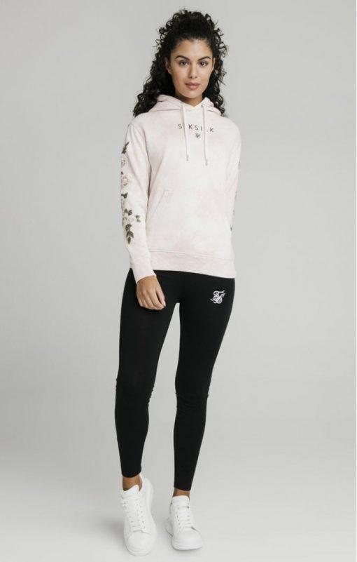 siksilk tye dye floral overhead hoodie pink p5193 50295 medium