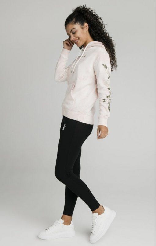 siksilk tye dye floral overhead hoodie pink p5193 50296 medium