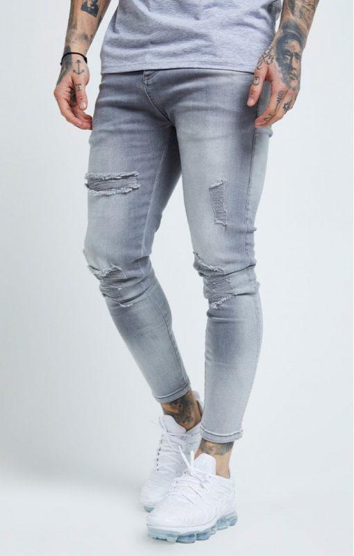 siksilk distressed skinny jeans washed grey p6081 61032 medium