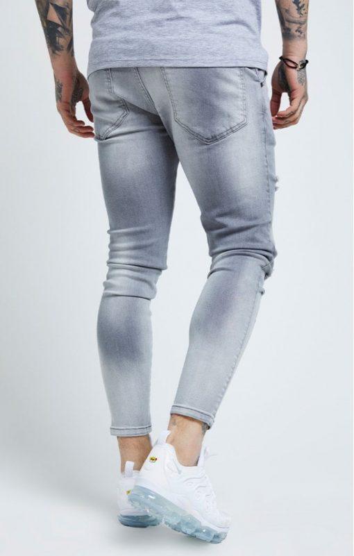 siksilk distressed skinny jeans washed grey p6081 61034 medium