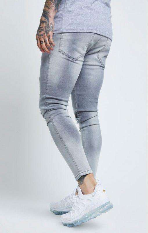siksilk distressed skinny jeans washed grey p6081 61035 medium