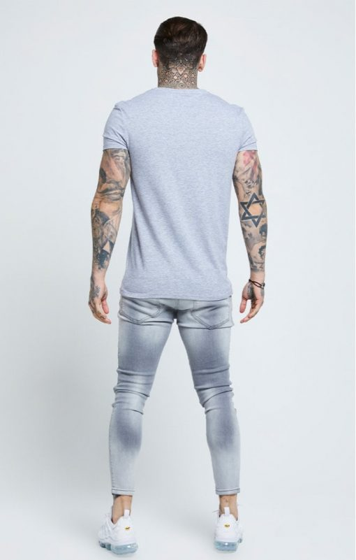 siksilk distressed skinny jeans washed grey p6081 61038 medium