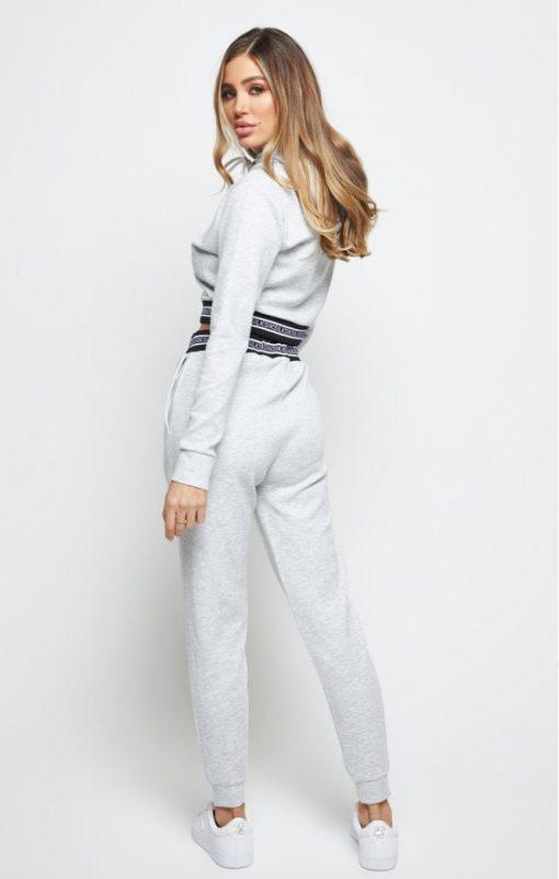 siksilk element cropped hoodie grey marl p6008 60118 medium