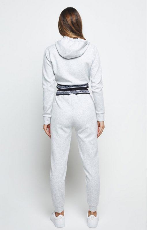 siksilk element cropped hoodie grey marl p6008 60119 medium
