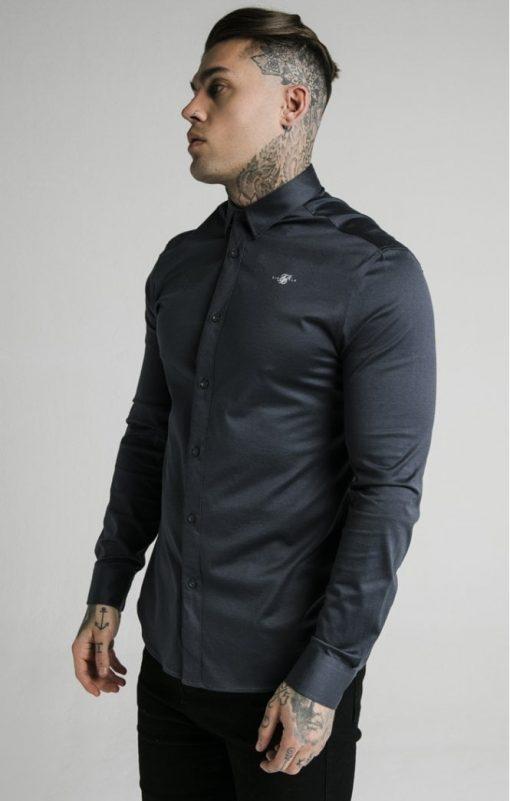 siksilk l s cotton shirt navy p5554 54996 medium
