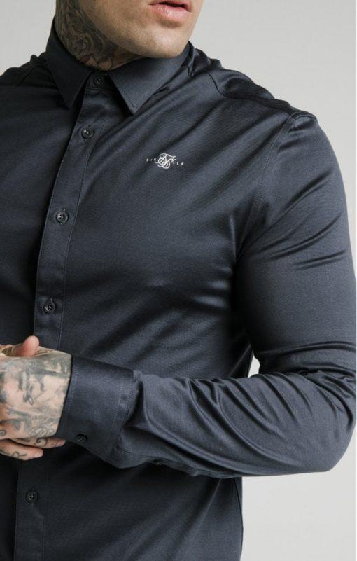 siksilk l s cotton shirt navy p5554 54997 medium