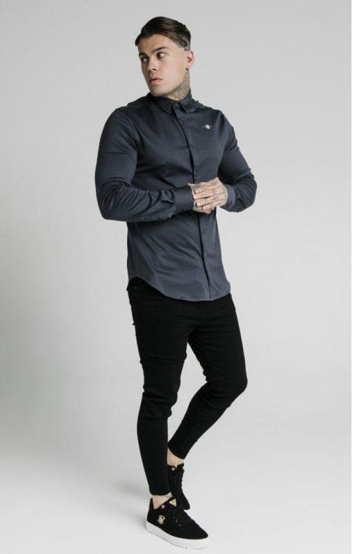 siksilk l s cotton shirt navy p5554 54999 medium
