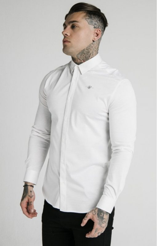 siksilk l s cotton shirt white p5551 54944 medium