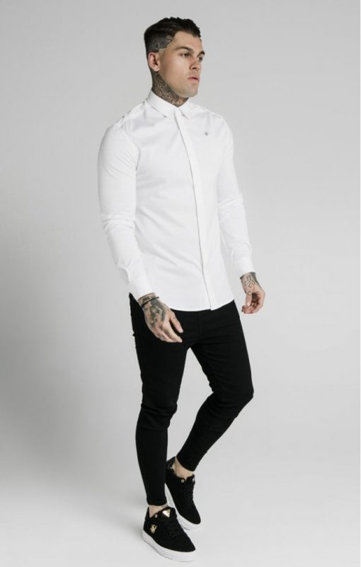 siksilk l s cotton shirt white p5551 54946 medium