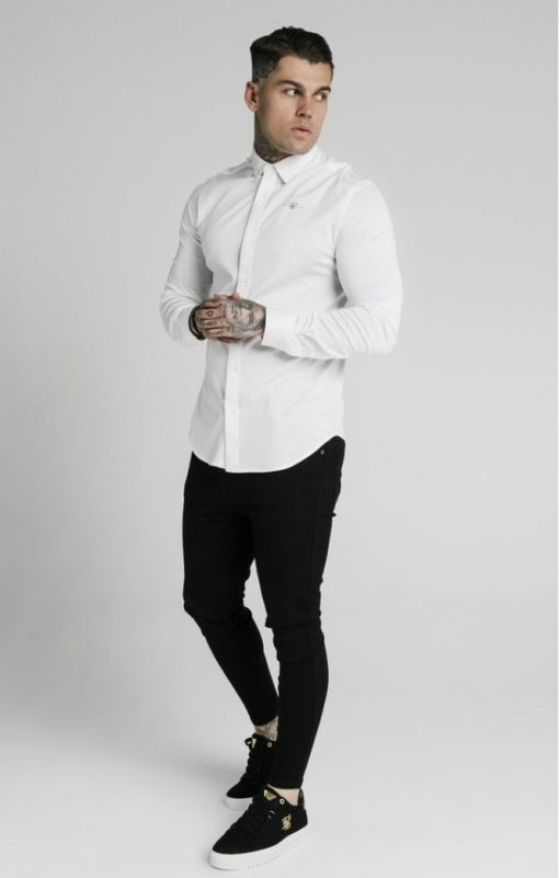 siksilk l s cotton shirt white p5551 54947 medium