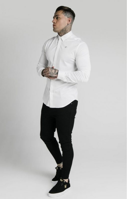 siksilk l s cotton shirt white p5551 54948 medium
