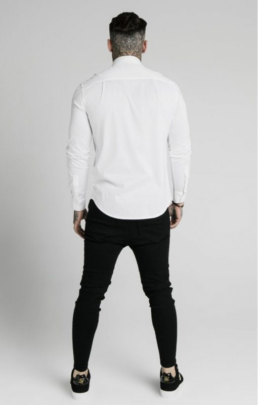 siksilk l s cotton shirt white p5551 54949 medium