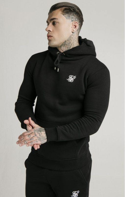 siksilk muscle fit overhead hoodie black p3755 32422 medium